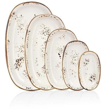 By Bone Porselen Elegance 29 Cm Oval Tabak Renkli